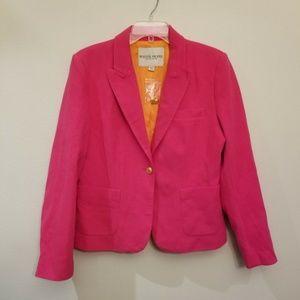 Jacket Coat Fuchsia Pink orange textured lined
